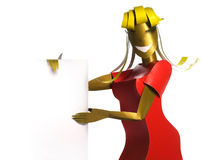 Paper model woman Royalty Free Stock Photography