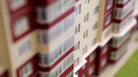 Condo Paper Model. Paper models of condominium and city dwelling houses. Architecture, design and real estate concept stock video