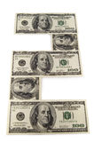 The paper money. On white background Royalty Free Stock Image