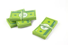 Paper Money. Stack of money made in papercraft Royalty Free Stock Image