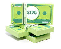 Paper Money. Stack of money made in papercraft Royalty Free Stock Photos