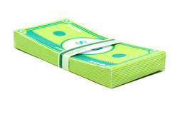 Paper Money. Stack of money made in papercraft Stock Photos
