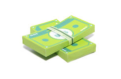 Paper Money. Stack of money made in papercraft Stock Photo