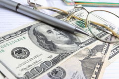 Paper money. Of different advantage, dollars Stock Photography