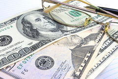 Paper money. Of different advantage, dollars Stock Photo