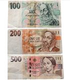 Paper money. Currency Czech Republic Stock Photography