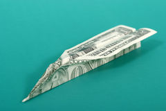 Paper Money Airplane 1 Royalty Free Stock Photos