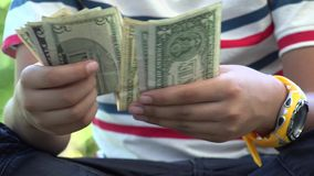 Paper Money, Bills, Currency, United States of America stock video footage