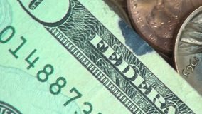 Paper Money, Bills, Currency, United States of America. Stock video of American money stock footage