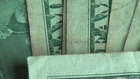Paper Money, Bills, Currency, United States of America. Stock video of American money stock video footage