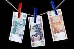 Paper money on black Stock Photo