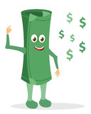 Paper money character Royalty Free Stock Image