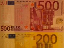 Paper money in Europe Royalty Free Stock Photos