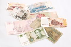 Paper Money Of Several Countries Stock Images