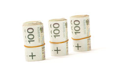 Paper money from poland to use in business Stock Images
