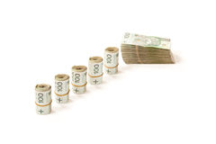 Paper money from poland to use in business Royalty Free Stock Photos