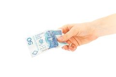 Paper money from poland to use in business Royalty Free Stock Photo