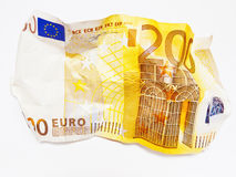 Paper money. On white underground to full size format royalty free stock photos