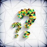 Paper mosaic triangles texture question mark Royalty Free Stock Image