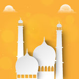 Paper Mosque for Islamic Festivals. stock illustration