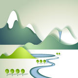Paper mountain landscape Royalty Free Stock Image