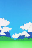 Paper mountain landscape Royalty Free Stock Photo
