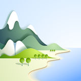 Paper mountain landscape Stock Images