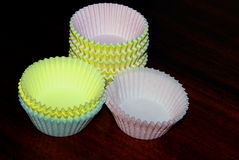 Paper Muffin cups Stock Photography