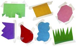 Paper multi-colored blank slices  for notes Stock Photo