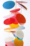Paper multi-colored garland Royalty Free Stock Images