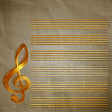 Paper musical background with gold lettering Royalty Free Stock Images