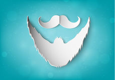 Paper mustache Royalty Free Stock Photos