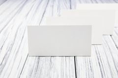 Paper nameplate Stock Image