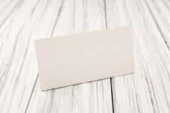 Paper nameplate Royalty Free Stock Photo