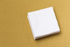 Paper napkin on gray background royalty free stock photo