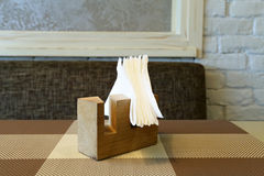 Paper napkin in the rack Royalty Free Stock Images