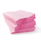 Paper Napkin. Stack of pink paper napkin on white background stock images