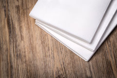 Paper napkin on wooden Stock Image