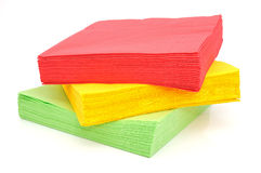 Paper napkins Stock Image