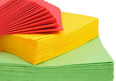 Paper napkins. Oh a white background Royalty Free Stock Image