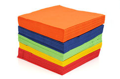 Paper napkins. On a white background Royalty Free Stock Photography
