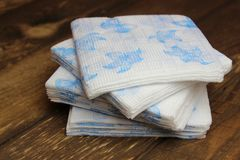 Paper napkins on the boards Royalty Free Stock Images