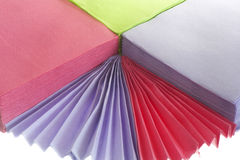 Paper napkins. A paper napkins on the white backround Stock Image