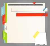 Paper navigation Stock Photos