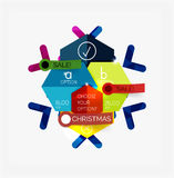 Paper New Year and Christmas labels, stickers Stock Images
