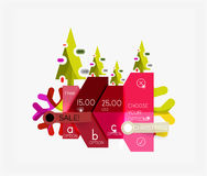 Paper New Year and Christmas labels, stickers Stock Image