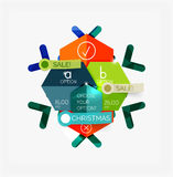 Paper New Year and Christmas labels, stickers Stock Photo