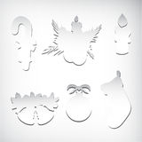 Paper new year decorate Stock Images