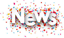 Paper news confetti sign Royalty Free Stock Photos