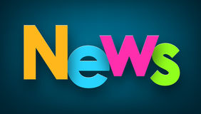 Paper news sign. Stock Photos
